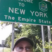 Photo taken at Welcome To New York Sign by Paul G. on 7/20/2014