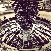 Photo taken at Reichstag Dome by Vadim on 11/27/2012