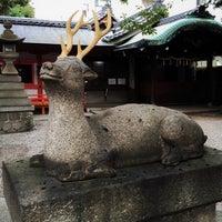 Photo taken at 春日神社 by Masamitsu T. on 12/24/2014