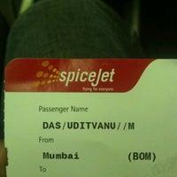 Photo taken at FlySpicejet@SG 851 BOM - DEL by Uditvanu D. on 2/12/2012