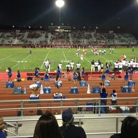 Photo taken at Oak Hills Bulldog Stadium by Brian A. on 9/14/2013