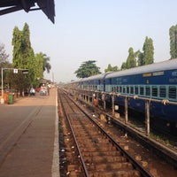 Photo taken at Margao Railway Station by Filip N. on 3/25/2016