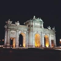 Photo taken at Alcalá Gate by Antonio R. on 6/30/2013