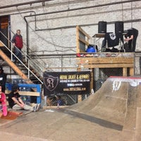 Photo taken at Four Seasons Skate Park by Gnarly J. on 1/26/2016