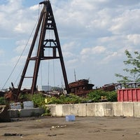 Photo taken at Staten Island Tugboat Graveyard by Cari on 6/15/2013