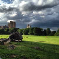 Photo taken at Sheep Meadow - Central Park by Cari on 6/11/2013