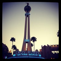 Photo taken at Crossroads of the World by Trent V. on 1/14/2013