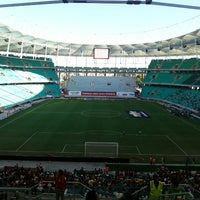 Photo taken at Itaipava Arena Fonte Nova by Victor B. on 4/13/2013