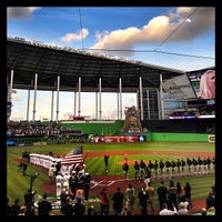 Photo taken at Marlins Park by Fede W. on 4/8/2013
