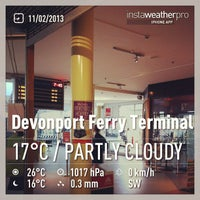 Photo taken at Devonport Ferry Terminal by Oriana P. on 2/10/2013
