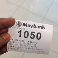 Photo taken at Maybank by Anyss F. on 6/21/2016