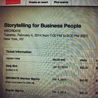 Photo taken at We Create NYC by Kalli B. on 1/31/2014