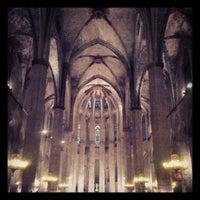Photo taken at Basílica de Santa Maria del Mar by Joselete I. on 4/28/2013
