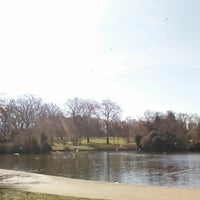Photo taken at Abington Park Lake by András K. on 3/22/2015