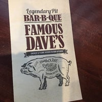 Photo taken at Famous Dave's by Christian N. on 7/11/2016