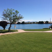 Photo taken at Val Vista Lakes Clubhouse by Rick M. on 4/16/2016
