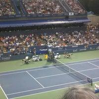 Photo taken at William H.G. Fitzgerald Tennis Stadium by Jess T. on 8/9/2015