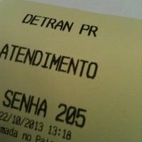 Photo taken at DETRAN/PR - Departamento de Trânsito do Paraná by Tathiany C. on 11/21/2012