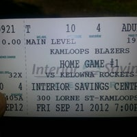 Photo taken at Interior Savings Centre by Kristopher P. on 9/22/2012