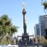 Photo taken at Av. Paseo de la Reforma by Gaby l. on 12/30/2012