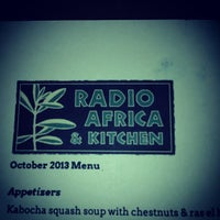 Photo taken at Radio Africa & Kitchen by Peter S. on 10/20/2013
