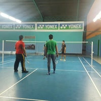 Photo taken at Pro One Badminton Centre by Siti N. on 9/7/2016