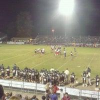 Photo taken at MHS football stadium by Matt S. on 11/3/2012