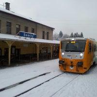 Photo taken at Železniční stanice Semily by Jenda Š. on 1/14/2013