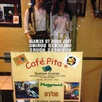 Photo taken at Cafe Pita+ by Ginger L. on 1/8/2013