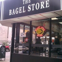 Photo taken at The Bagel Store by Donna K. on 10/25/2012