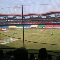 Photo taken at Jawaharlal Nehru Stadium by Randeep J. on 2/10/2013