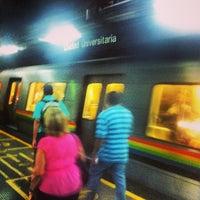 Photo taken at Metro - Ciudad Universitaria by John S. on 12/12/2013