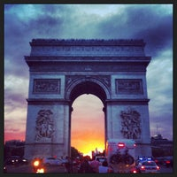 Photo taken at Arc de Triomphe by Lizbeth C. on 7/29/2013