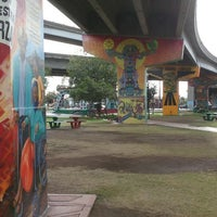 Photo taken at Chicano Park by Marco T. on 1/8/2016