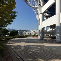 Photo taken at Daejeon Worldcup Stadium by Jason C. on 10/11/2014