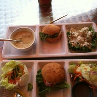 Photo taken at Crispers Fresh Salads, Soups and Sandwiches by Cyndi on 4/27/2013