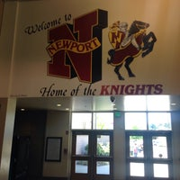 Photo taken at Newport High School by Diana B. on 5/2/2015