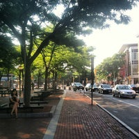 Photo taken at Davis Square by Maggie K. on 8/21/2013