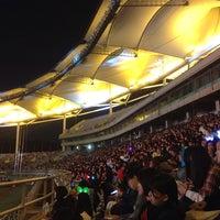 Photo taken at Incheon Munhak Stadium by Hae-jin L. on 10/17/2015