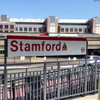 Photo taken at Stamford Transportation Center Bus/Train (STM) Metro North & Amtrak by Brian B. on 4/24/2013