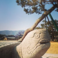 Photo taken at Tomb of King Suro by Niki S. on 1/28/2014