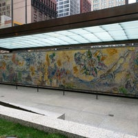 """Photo taken at Chagall Mosaic, """"The Four Seasons"""" by Jonathan K. on 12/3/2016"""