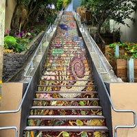 Photo taken at Hidden Garden Mosaic Steps by Kevin on 8/25/2016