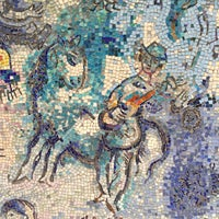 """Photo taken at Chagall Mosaic, """"The Four Seasons"""" by Shaun S. on 4/19/2016"""