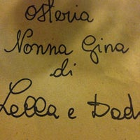 Photo taken at Osteria Nonna Gina by Nathali D. on 8/9/2014