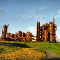 Photo taken at Gas Works Park by Onur K. on 9/26/2012