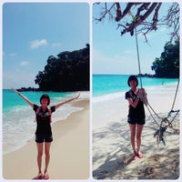Photo taken at Sumur Tiga Beach. by Rica C. on 12/25/2015