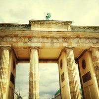 Photo taken at Brandenburg Gate by Frank G. on 4/13/2013