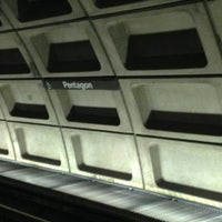 Photo taken at Pentagon Metro Station by Kris S. on 12/21/2012