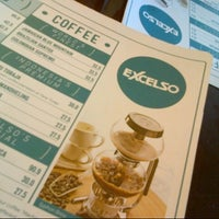 Photo taken at EXCELSO Café by ERLANGGA PhotoMotions S. on 10/8/2013